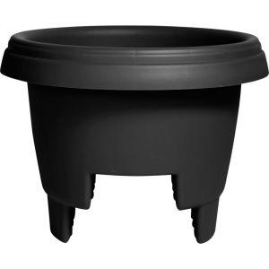 Bloem - Deck Rail Planter - Black - 12 Inch