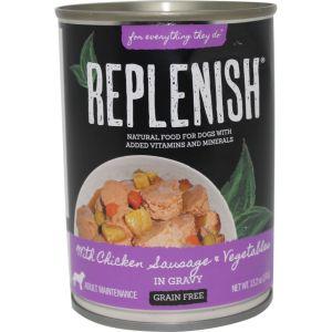 Replenish Pet - Grain Free Canned Dog Food - Chicken/Sausage/Veggies - 13.2 oz