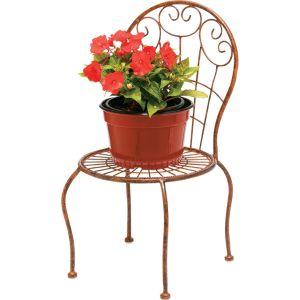 Deer Park Ironworks - Sunburst Chair Planter - Natural Patina