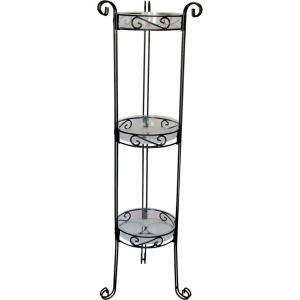 Deer Park Ironworks - 3 Tier Plant Stand With Trays - Black