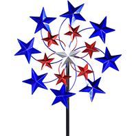 Exhart - Star Spangled Spinner Garden Stakes
