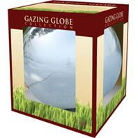 Alpine Corporation - Glass Gazing Globe-Silver-10 Inch