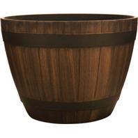Southern Patio - Hdr Wine Barrel Planter - Kentucky Walnut - 20.5 Inch