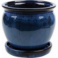 Southern Patio - Clayworks Wisteria Planter-Blue-6 Inch