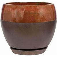 Southern Patio - Clayworks Kendell Egg Planter - Copper - 6 Inch