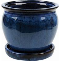 Southern Patio - Clayworks Wisteria Planter - Blue - 8 Inch