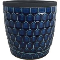 Southern Patio - Honeycomb Planter - Cobalt - 6 Inch