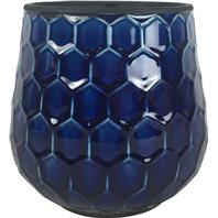 Southern Patio - Honeycomb Planter - Cobalt - 8 Inch