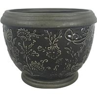 Southern Patio - Gracie Planter - Deep Gray - 6 Inch