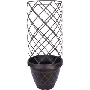 Southern Patio - Lacis Trellis Planter - Brown - 15In