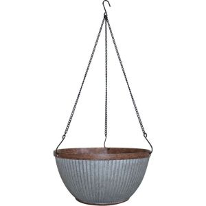 Southern Patio - Westlake Hanging Basket Planter - Galvanized - 12 Inch