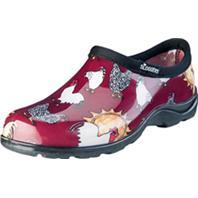 Principle Plastics Inc - Sloggers Womens Waterproof Comfort Shoe-Chicken Red-10