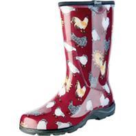 Principle Plastics Inc - Sloggers Womens Waterproof Comfort Boot-Chicken Red-6