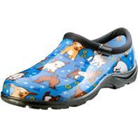 Principle Plastics - Womens Waterproof Garden Shoe-Blue Goat-10