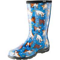 Principle Plastics - Womens Waterproof Garden Boot-Blue-9