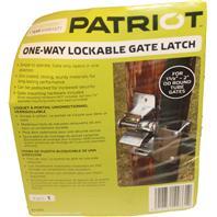 Tru-Test-Lockable Gate Latch One Way-Grey-1 5/8  - 2