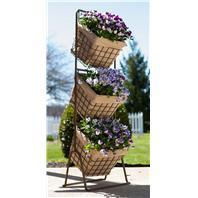 Panacea  - 3 Tier Harvest Baskets Planter Stand-16X16X12