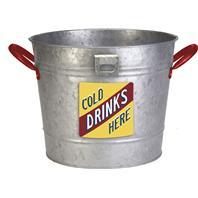 Panacea - Vintage Galvanized Ice Bucket Planter-12 Inch
