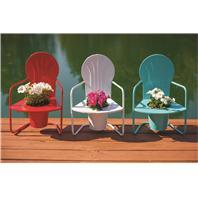 Panacea  - Retro Metal Chair Planters-Assorted-19 Inch