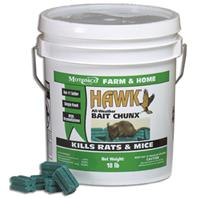 Motomco - Hawk All-Weather Bait Chunx Rat & Mouse Killer-18 Pound
