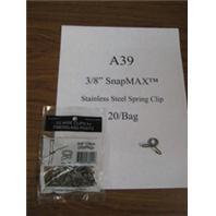 Geotek - Stainless Steel Spring Clip - 3/8 In/20 Pack