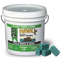 Motomco - Hawk All-Weather Bait Chunx Rat & Mouse Killer-9 Pound