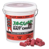 Motomco - Jaguar All-Weather Bait Chunx Rat & Mouse Killer-20 Gm/9 Pound