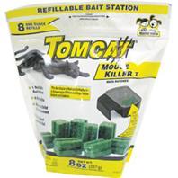 Motomco - Tomcat Mouse Killer I Refillable Bait Station-8 Refills