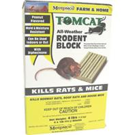 Motomco - Tomcat All-Weather Rodent Block-Peanut-4X1 Lb Block