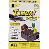 Motomco - Tomcat Rat Killer Ii Refillable Bait Station-15 Refills