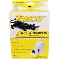 Motomco - Tomcat Kill & Contain Mouse Trap-White-2 Pack