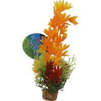 Blue Ribbon Pet Products - Color Burst Florals Large Brush Plants - Orange - Large
