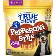 Tyson Pet Products - True Chews Pepperoni Style Dog Treats - Bacon - 16 Oz
