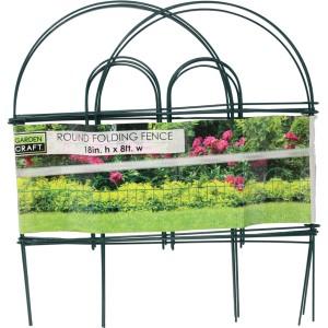 Garden Zone - Round Folding Fence - Green - 18X8