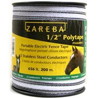 Woodstream Zareba - Zareba Poly Tape Roll-White-1/2In/200 Meter