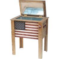 Ddi - Rustic Cooler American Flag - 45 Qt