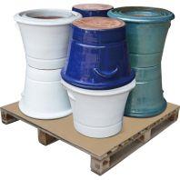 Southern Patio - Jori Ceramic Pallet Assortment - Blue/White