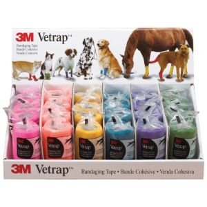 3M - Vetrap Bandaging Tape Display - Assorted - 18 Piece