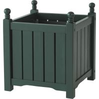 The Master Gardner - Lexington Planter Square - Green - 16 Inch