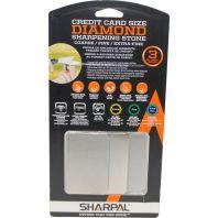 Sharpal - Credit Carde Size Diamond Sharpening Stone 3Pack - Black/Orange - 3 Pack