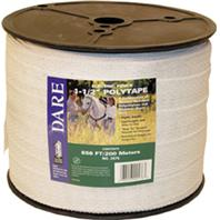 Dare Products Inc-Equine Fencing Polytape-White-1.5 In X 656 Ft