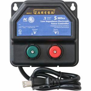 Woodstream Zareba - Zareba Ac Low Impedance Electric Fence Charger - Black - 5 Mile
