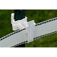 Woodstream Zareba - T-Post Insulator For 2In Tape - White - 25/Bag
