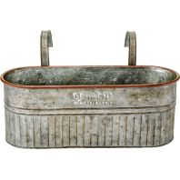 Behrens Manufacturing - Embossed Aged Galvanized Hanging Planter - 16 Inch