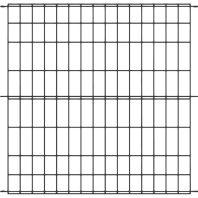 Panacea Products - Multi-Purpose Grid Fence Panel - Black - 30 X 36 Inch