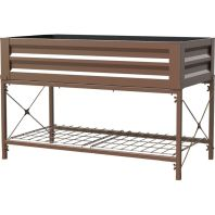 Panacea Products - Metal Elevated Garden - Timber Brown - 48X24X12