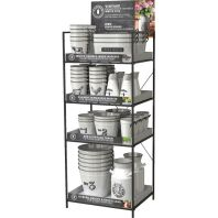 Panacea Products - Milk House Vintage Tin Collection Display - White - 58 Piece