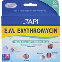 Aquarium Pharmaceuticals - E.M. Erythromycin Powder - 10 Pack