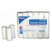 Dukal Corporation - New Sponge Rolled Gauze - White - 3 Inch