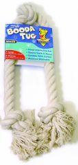 Booda - 3 Knot Rope Tug Dog Toy - White - Extra Large